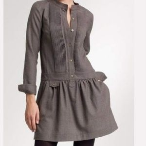J. Crew Grey Sundrine Wool Flannel Dress